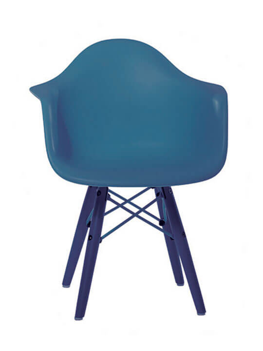 blue kids modern chair