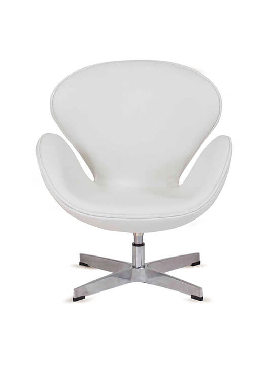kids leather hug chair white