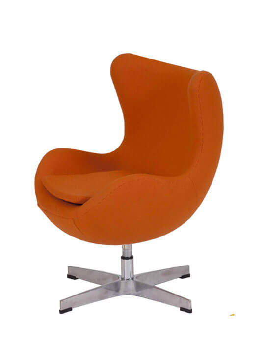 kids magnum orange fabric chair