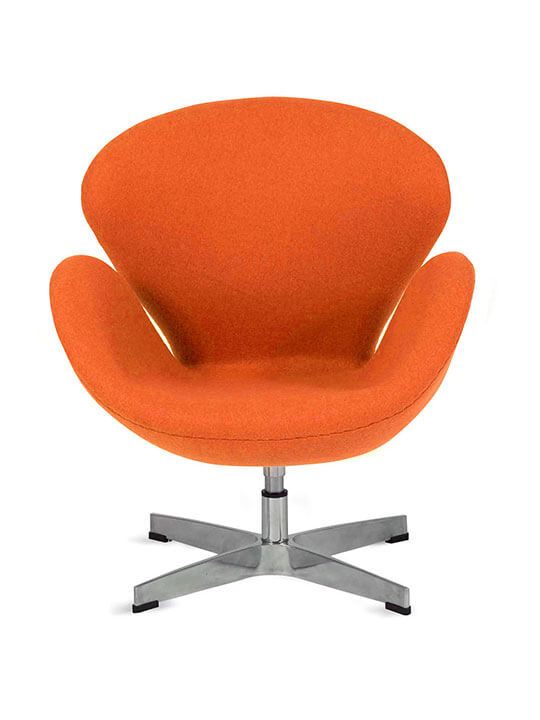 kids orange fabric hug chair