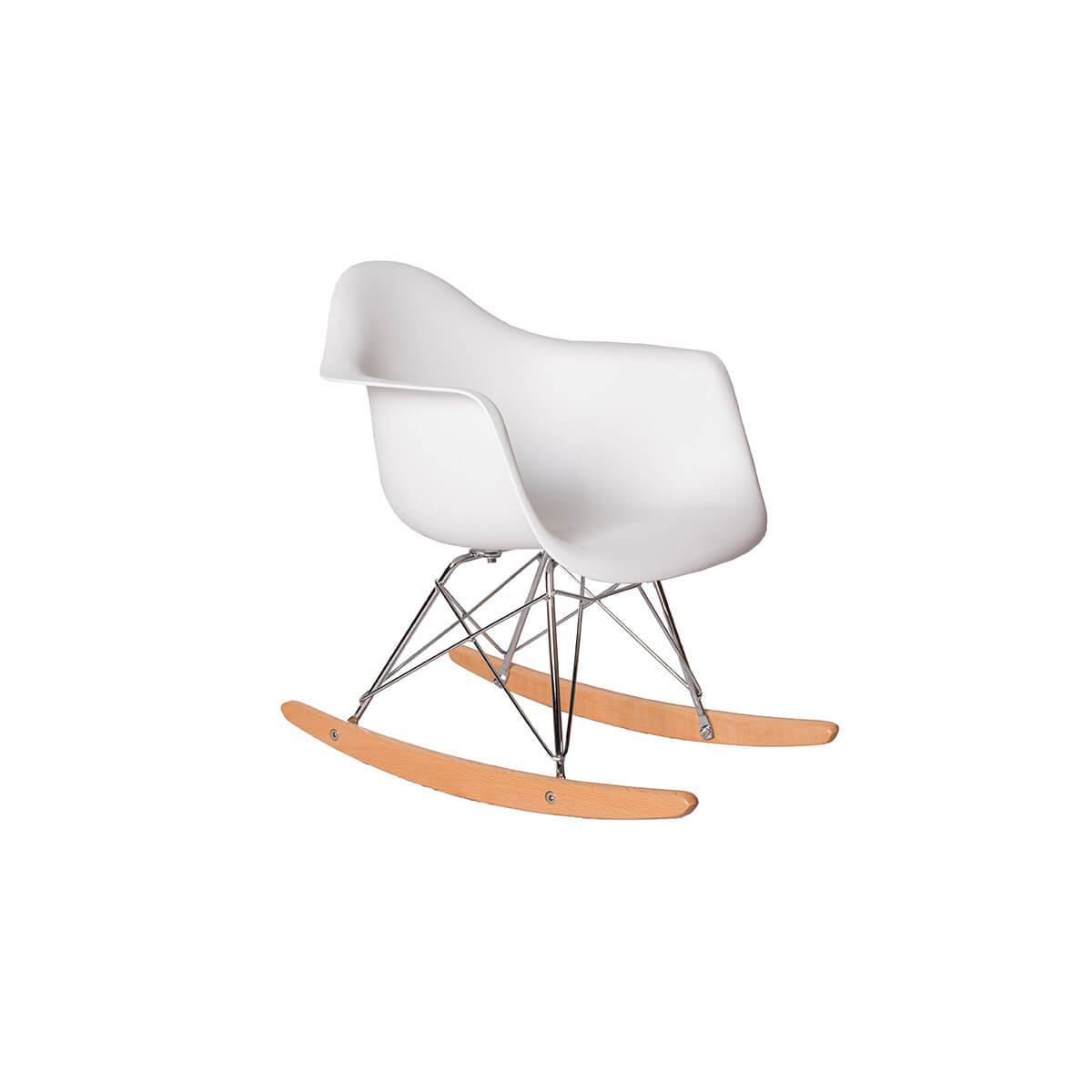 kids white eames rocking chair