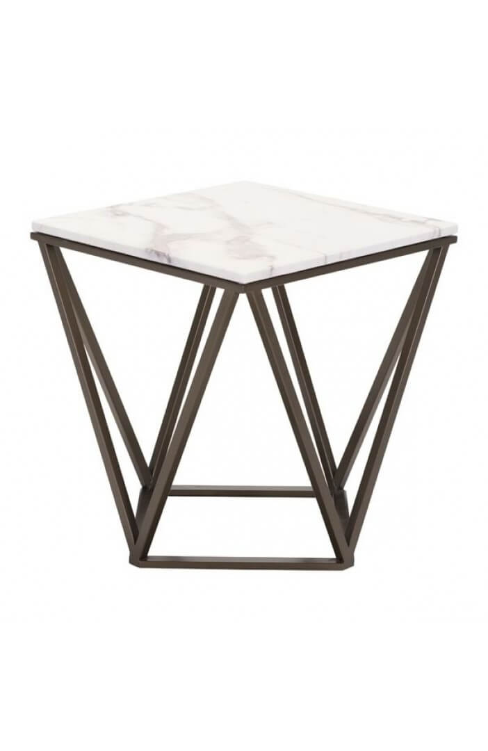 marble brass end table 4