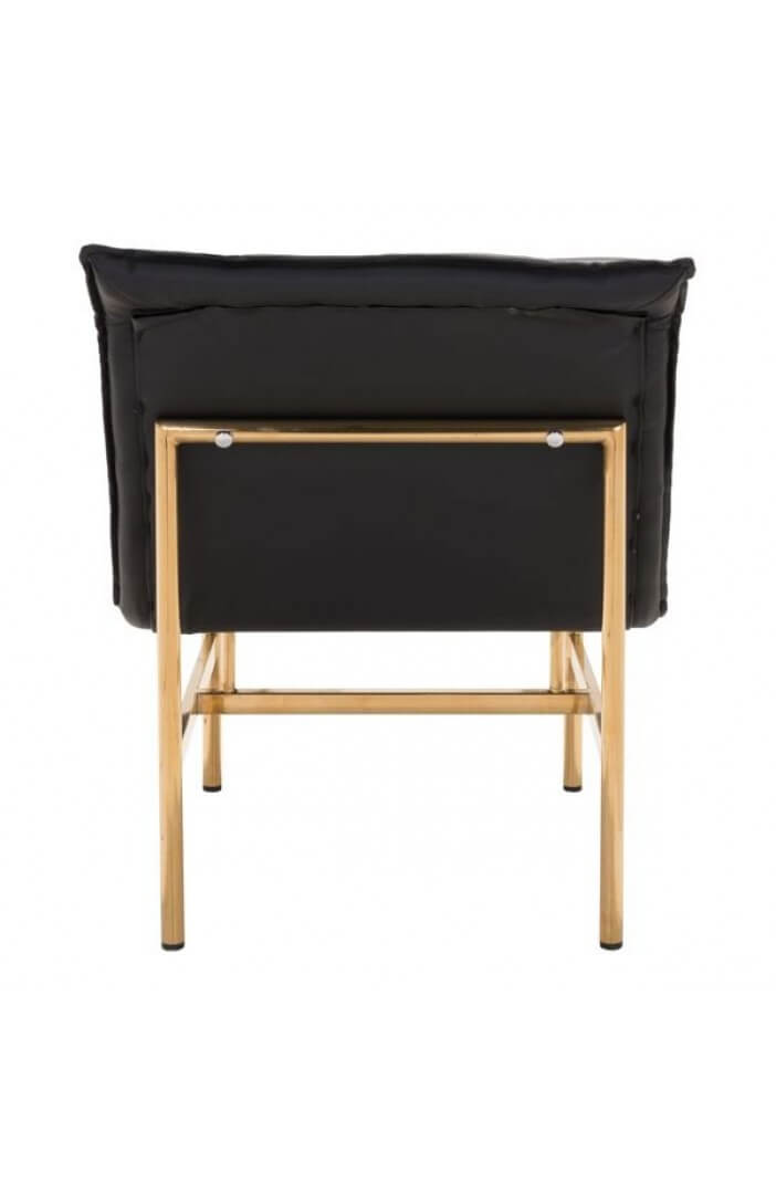 marmony gold leather lounge chair 4