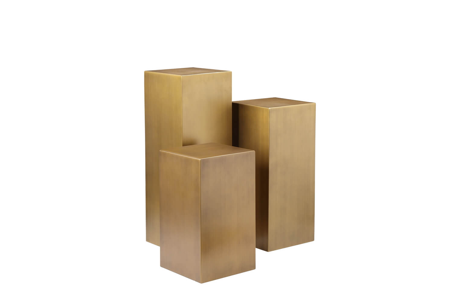 pedestal brass 3 set