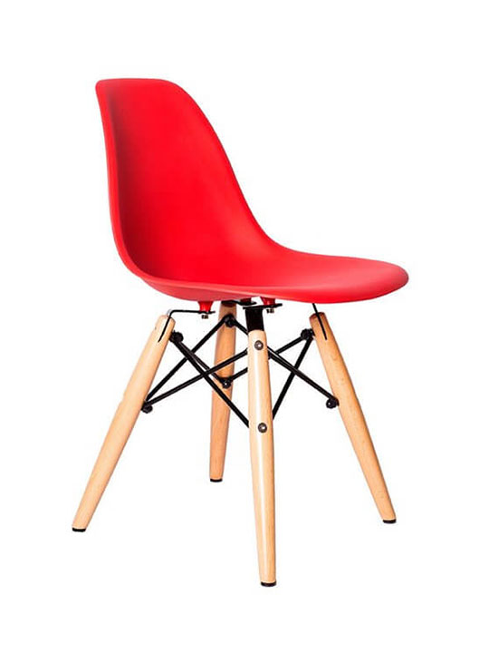 red kids eames chairs