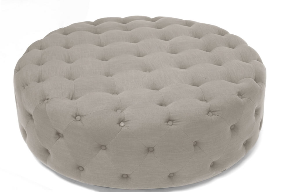 tufted large fabric ottoman beige 2