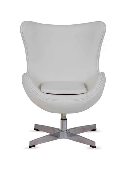white kids leather chair