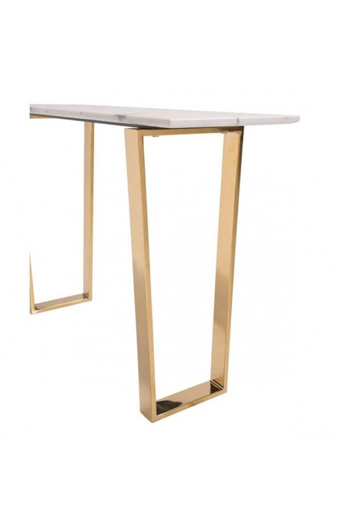 White Marble Gold Console Table Modern Furniture
