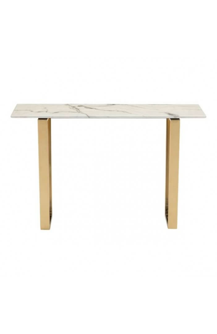 white marble gold console table 3
