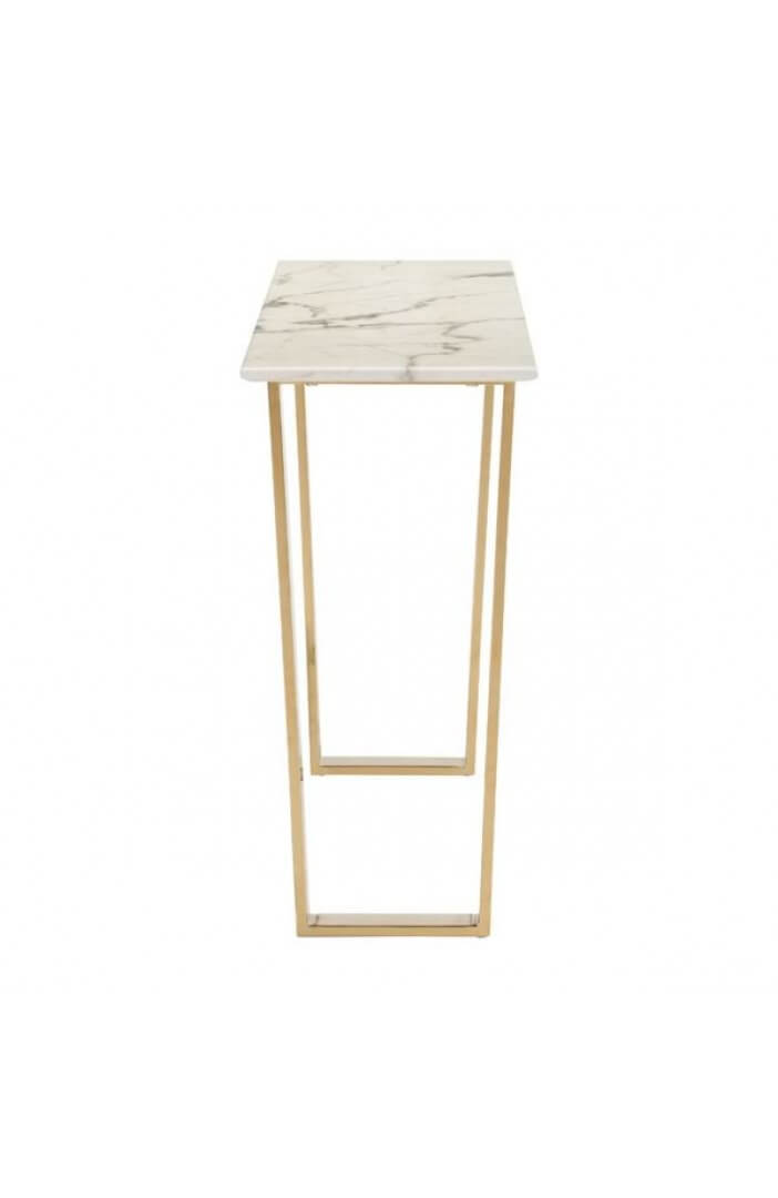 white marble gold console table 4