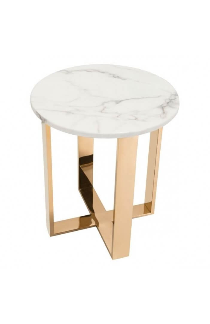 white marble gold side table 2