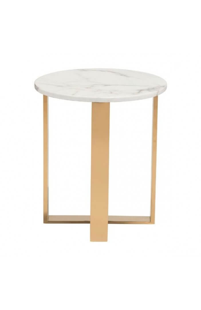 white marble gold side table 4