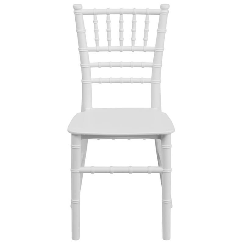 white modern kids chair