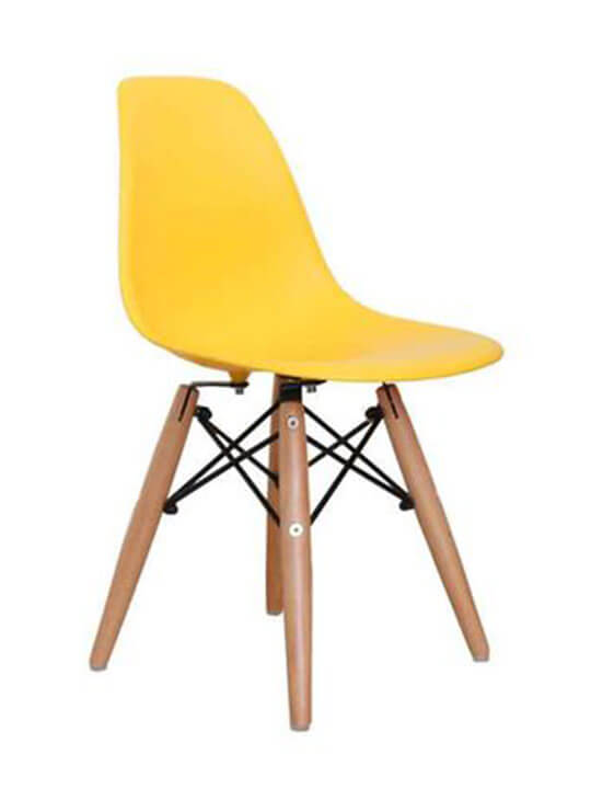 yellow kids eames chair