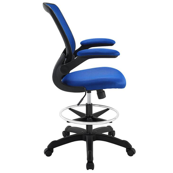 Blue mesh drafting stool 2