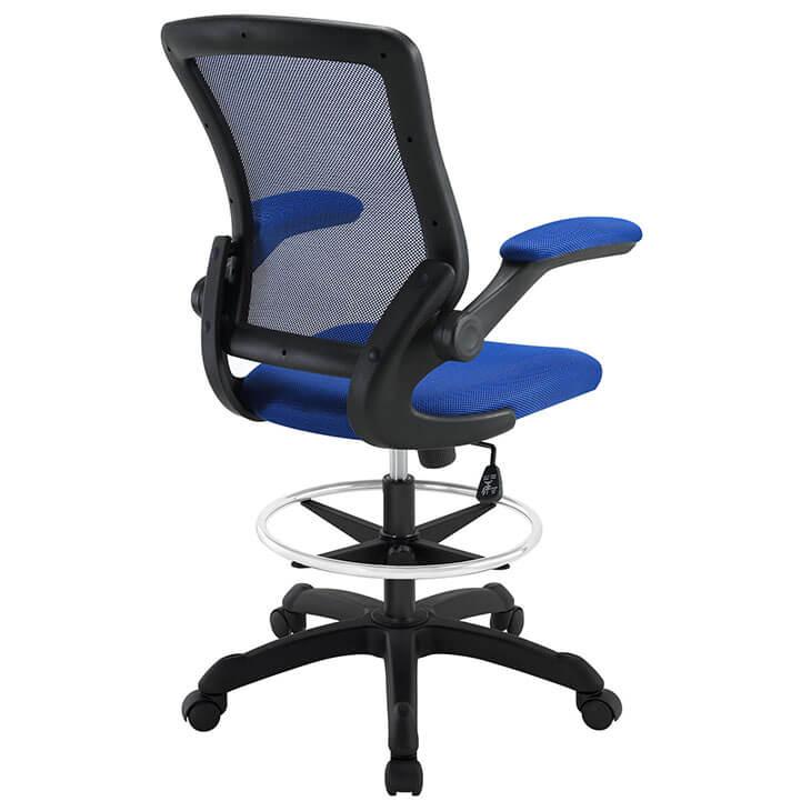 Blue mesh drafting stool 3