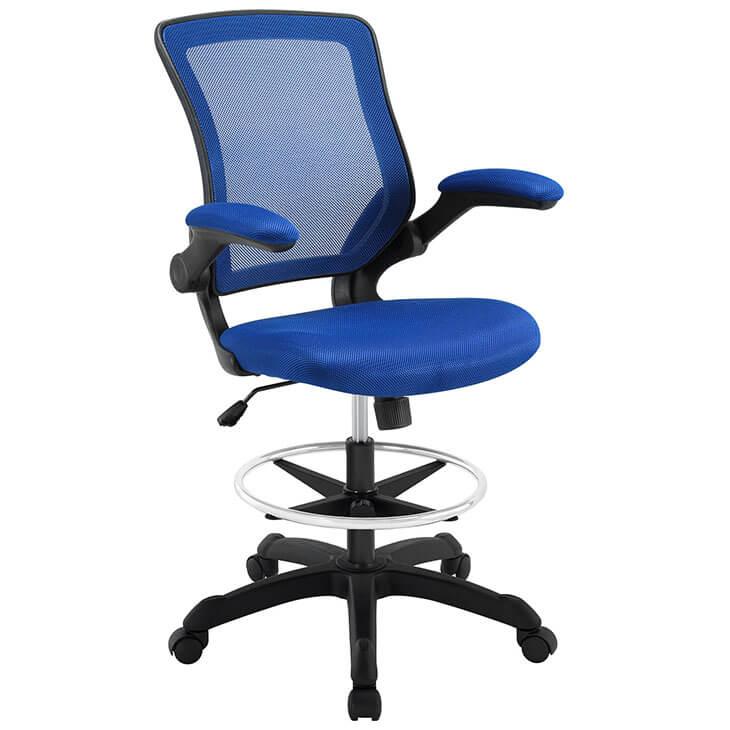 Blue mesh drafting stool