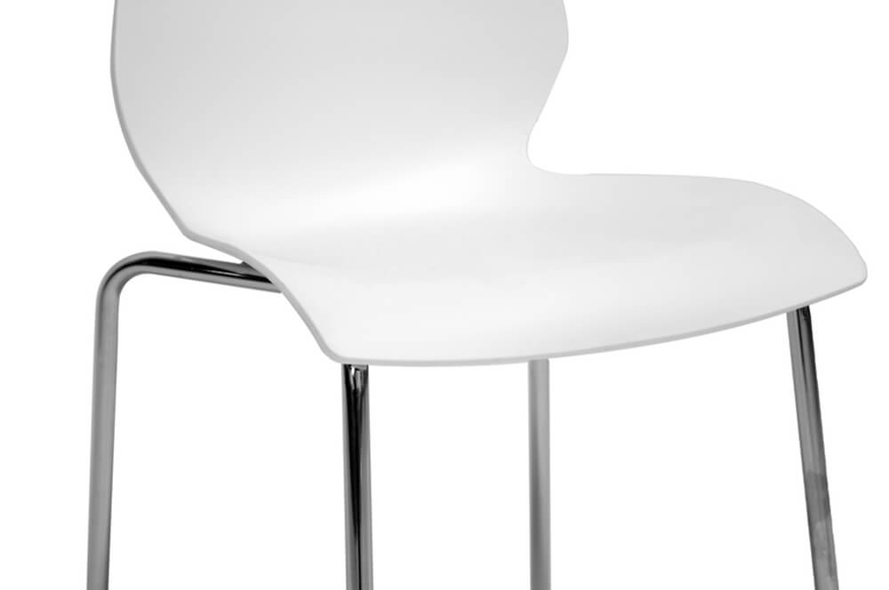 Chair Set of 2 modern white