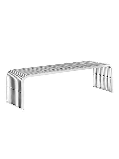 Chrome Curve Bench