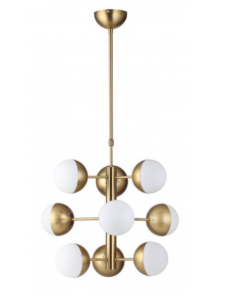 Gold Milk Chandelier 1