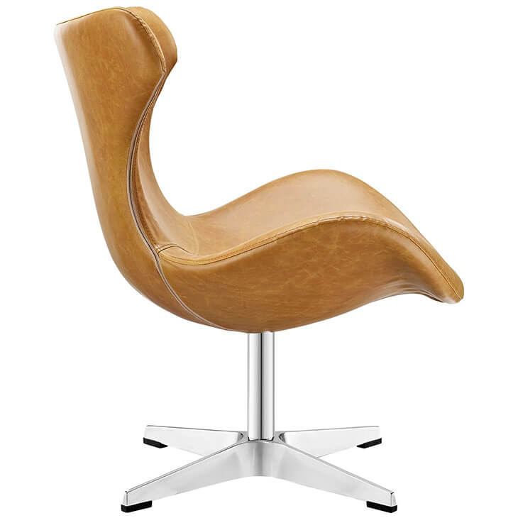 Swift lounge chair Tan leather 2