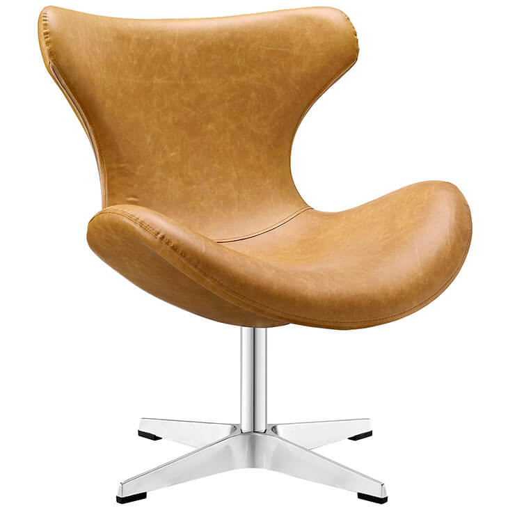 Swift lounge chair Tan leather