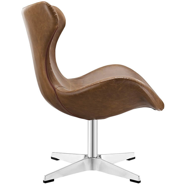 Swift lounge chair brown leather