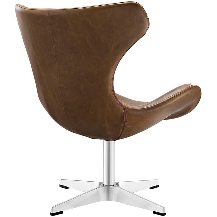 Swift lounge chair brown