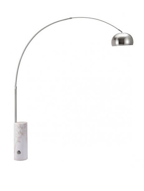 White Marble Cylinder Floor Lamp