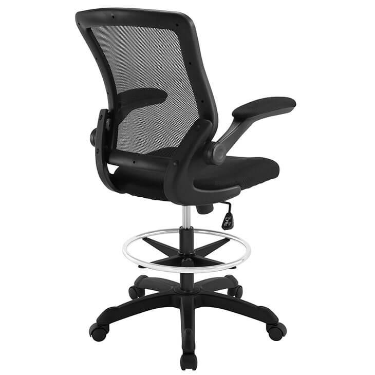 black mesh drafting stool 4