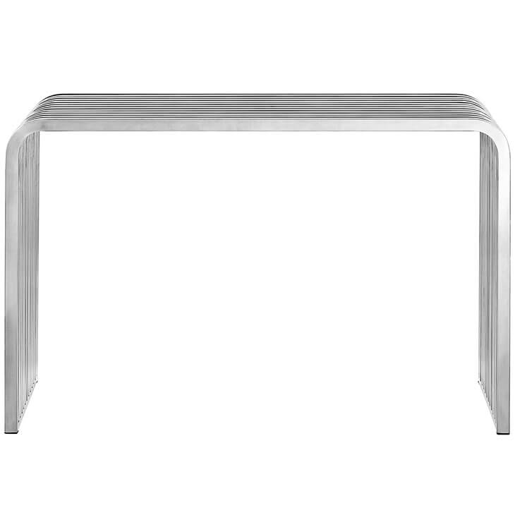 chrome modern console table