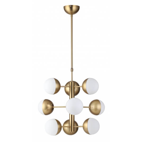 gold white bulb chandelier lighting