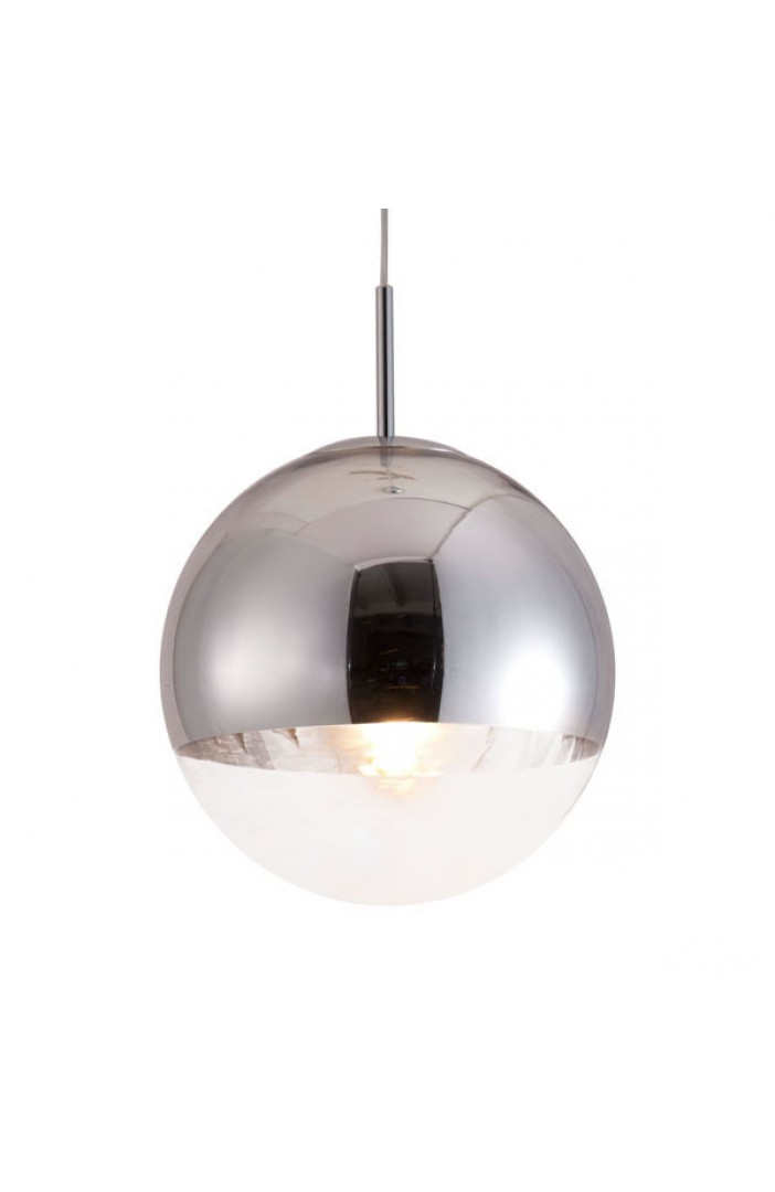 half dome silver pendant light 2
