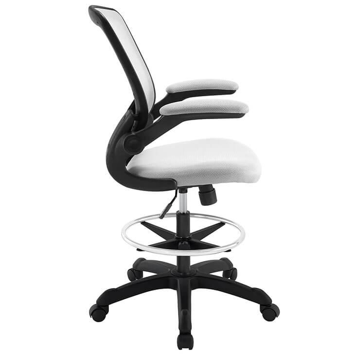 light gray mesh drafting stool 2