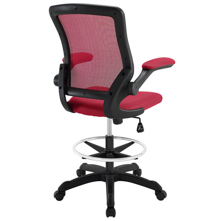 red mesh drafting stool 2