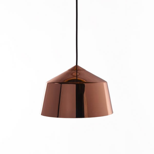 rose gold dome pendant light
