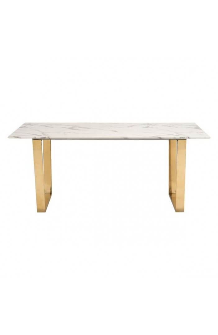 white marble gold dining table 3