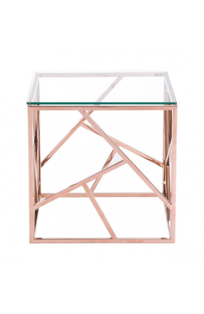 aero rose gold side table 1