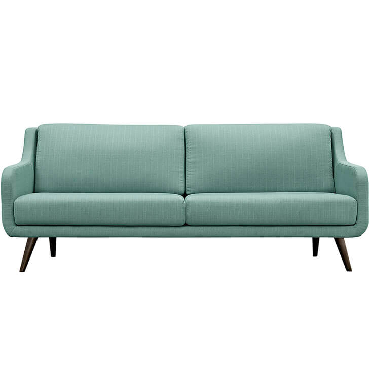 archive green fabric sofa