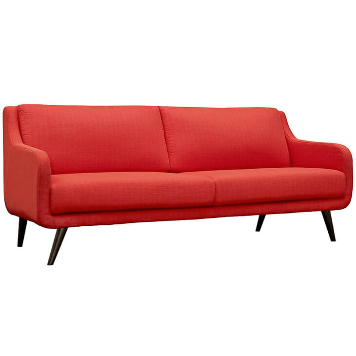 archive red fabric sofa 2