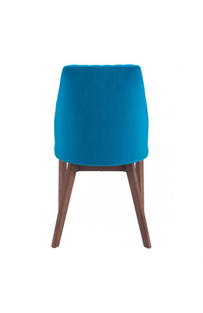 blue velvet dining chair