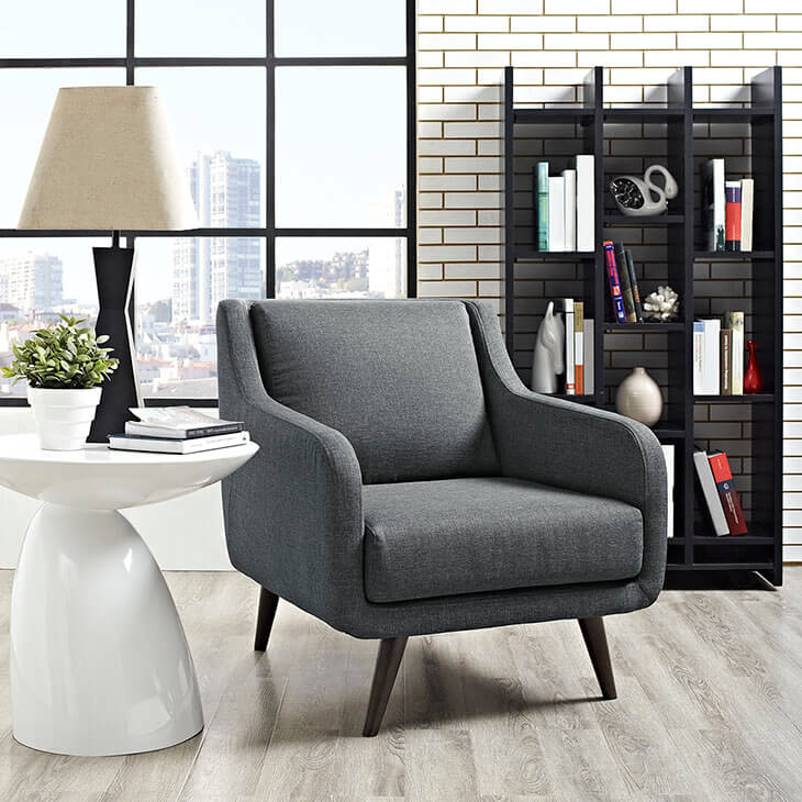 dark gray archive armchair
