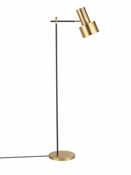 gold scope floor lamp