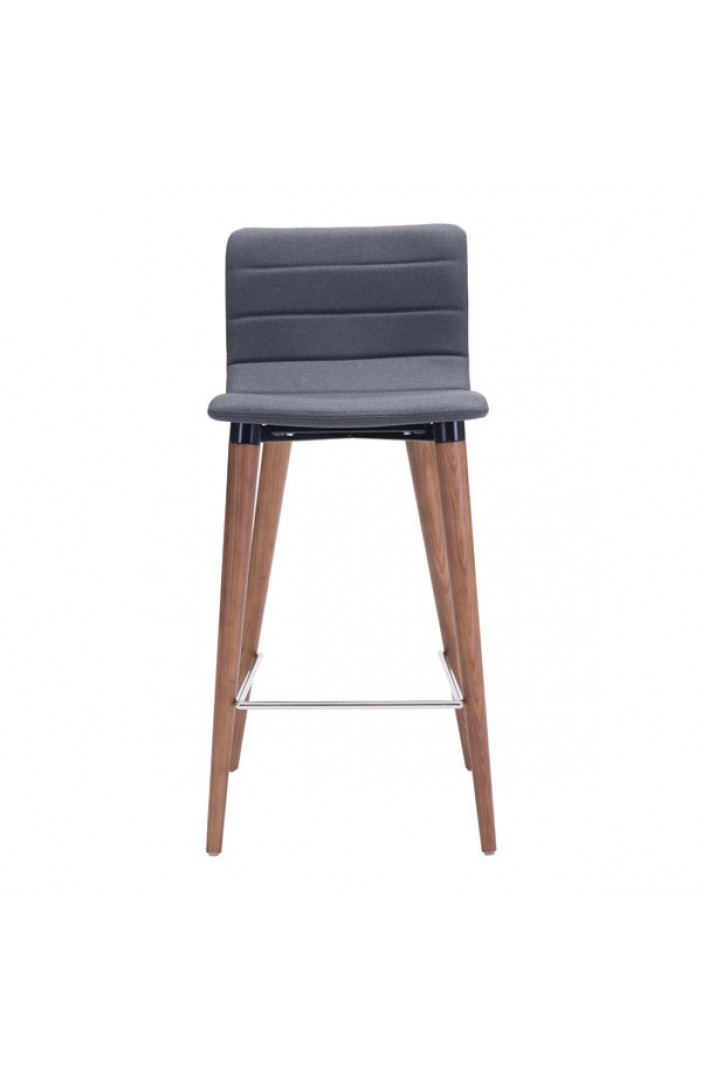 gray fabric barstool