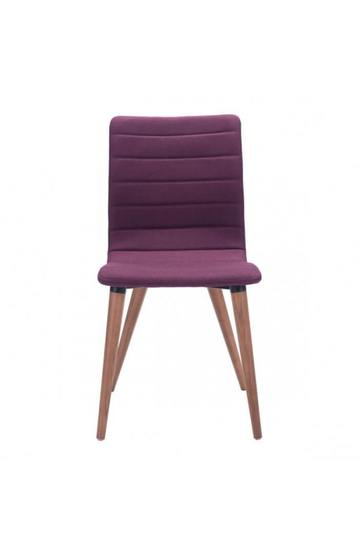 mid century purple fabric dining chair