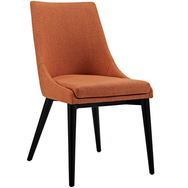 orange alps fabric chair