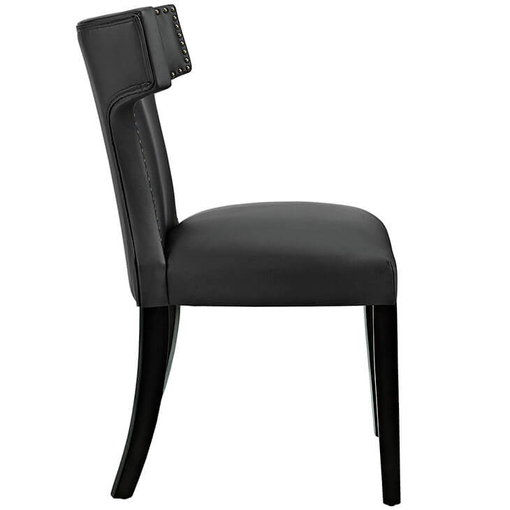 oxnard black leather chair