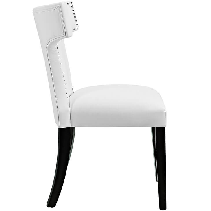 oxnard white leather chair 3