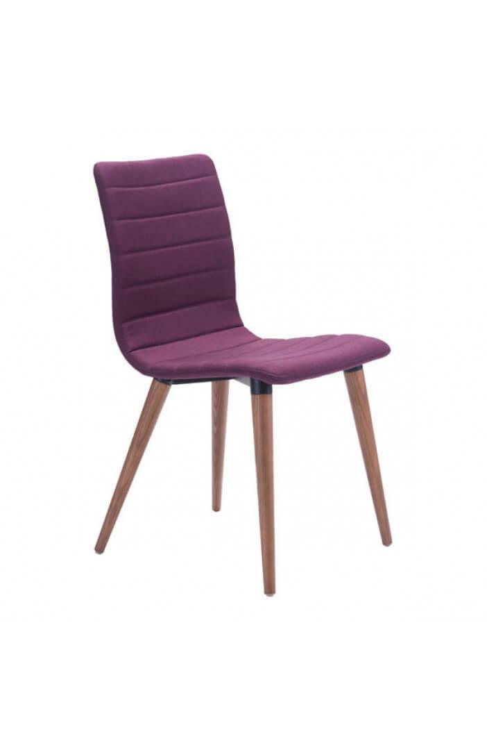 purple fabric chair