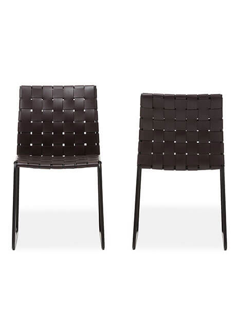 Bonded Leather Woven Chair